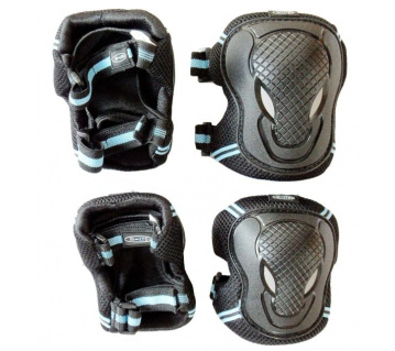 Black chrániče kolen a loktů L