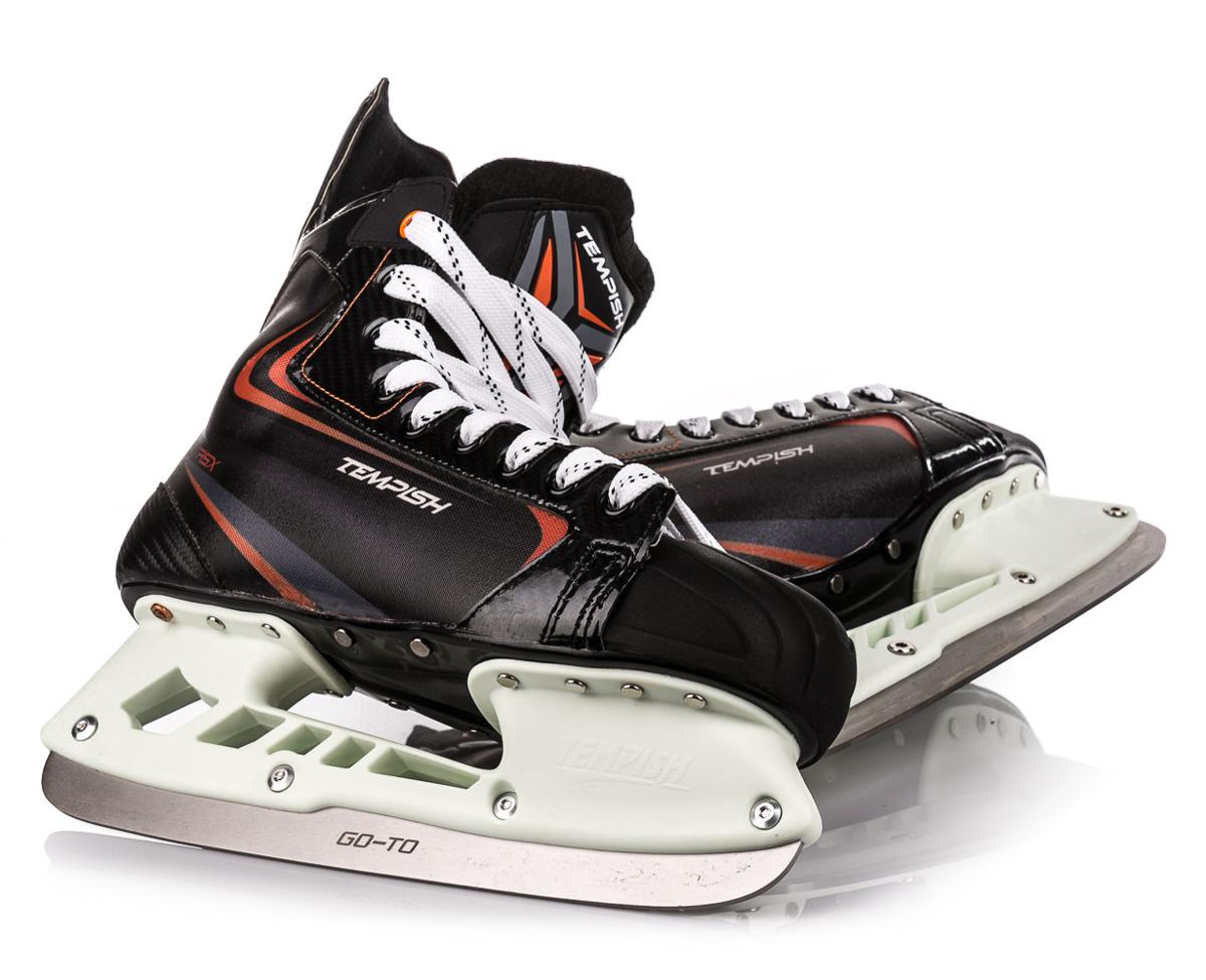 Tepelné tvarování hokejových bruslí