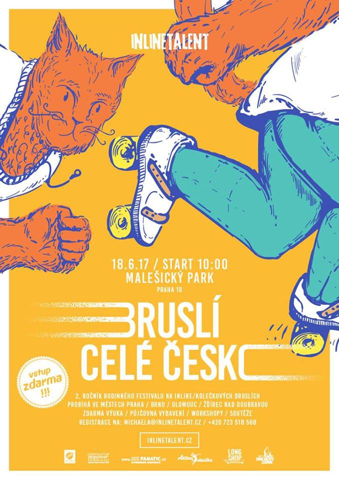 Bruslí celé Česko 2017 + Testování bruslí Roces