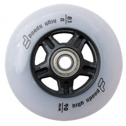 90mm 83A set 8ks + ložiska Abec 9 + alu spacer 8mm