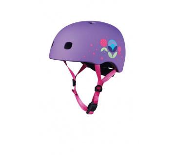 Přilba LED Floral Purple S (48-53 cm)