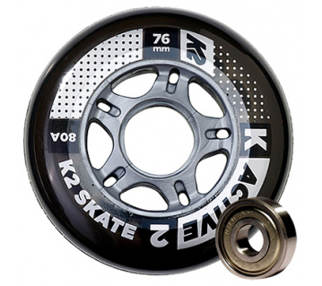 Active set 76mm 80A 8ks + ložiska ILQ 5 + alu spacers 6mm