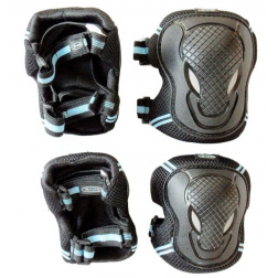 Black chrániče kolen a loktů S