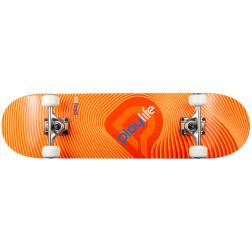 "Skateboard Playlife Illusion Orange 31x8"""