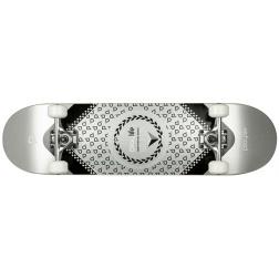 "Skateboard Playlife Heavy Metal Silver 31x8"""