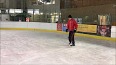 How to brake on ice skates
