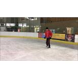 How to brake on ice skates