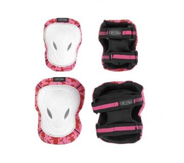 Pink-White chrániče kolen a loktů M