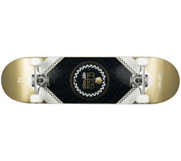 "Skateboard Playlife Heavy Metal Gold 31x8"""