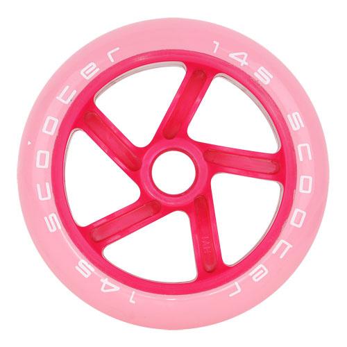 růžová kolečka na koloběžky