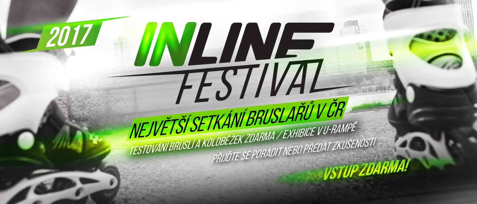 Inline festival 2017 - testování bruslí pro veřejnost zdarma