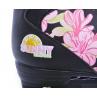 Černo růžové trekové quad brusle