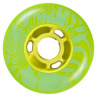 zelená kolečka na kolečkové brusle
