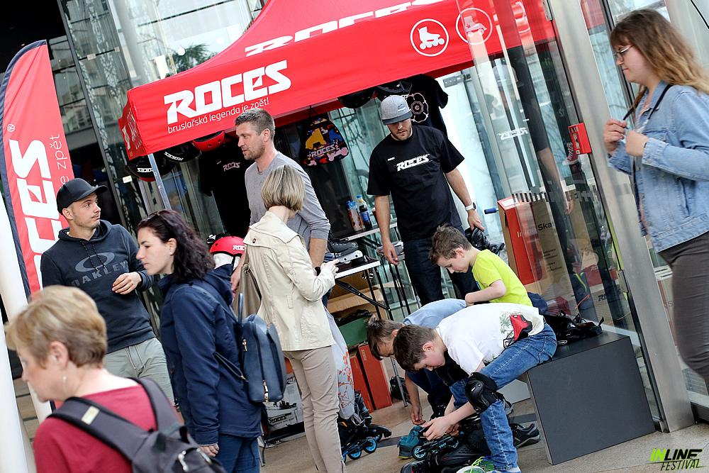Inline brusle Roces v Praze na Inline Centrum Inline festivalu 2019