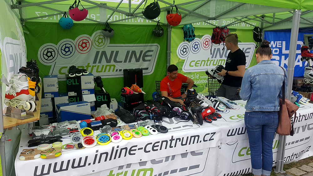 Inline centrum test bruslí