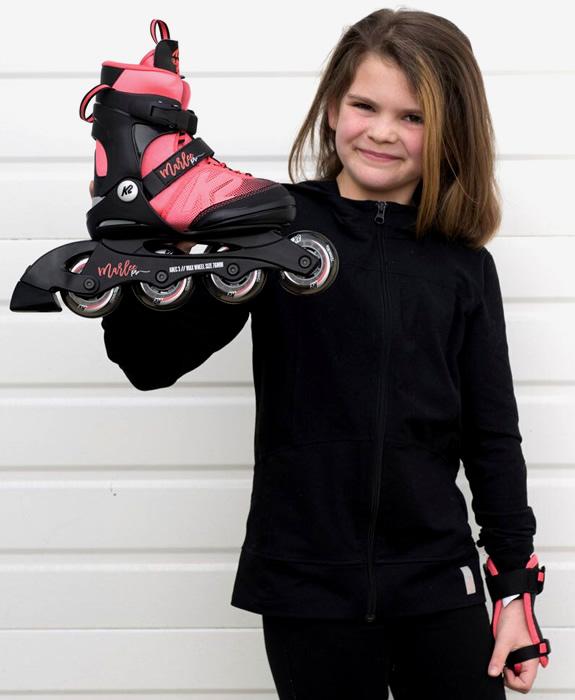 Dtěské brusle s nastavitelnou velikostí K2 Marlee Pro pro holky