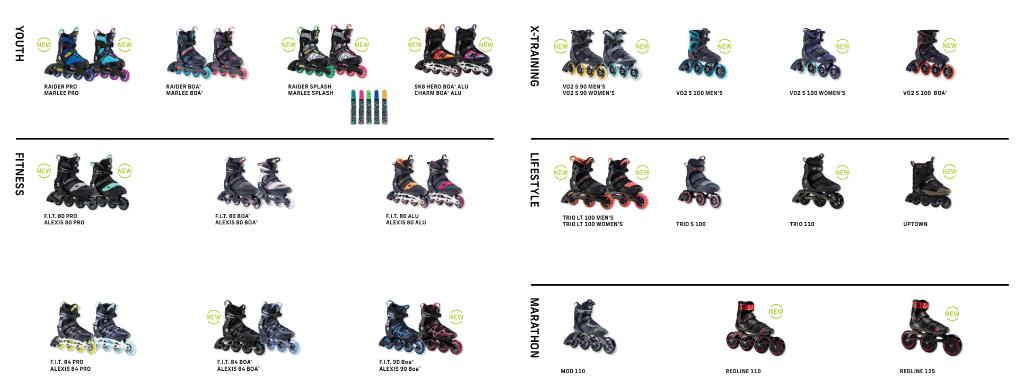 Kolečkové brusle K2 pro sezónu 2021