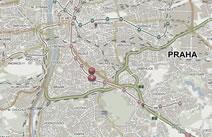 mapa prodejna Inline centrum DBK