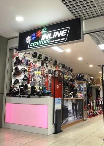 prodejna kolečkových bruslí Praha 4 OC DBK Inline Centrum