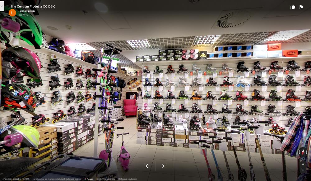 Specializovaná kamenná prodejna kolečkových bruslí Praha 4 OC DBK Inline Centrum
